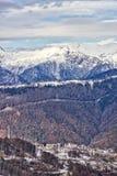 Montanha e a vila olímpica Fotografia de Stock Royalty Free