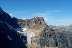 Montanha Edith e geleira imagens de stock