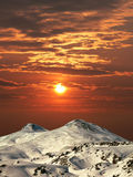 Montanha Elbrus. Fotografia de Stock