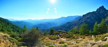 Montanha em Córsega Fotografia de Stock