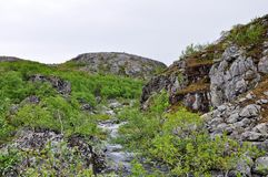 Montanha em Europa do Norte Fotos de Stock Royalty Free
