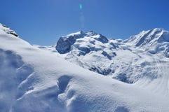 Montanha em Zermatt, Switzerland de Matterhorn Imagens de Stock Royalty Free