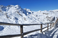 Montanha em Zermatt, Switzerland de Matterhorn Fotografia de Stock