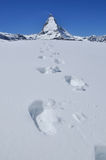 Montanha em Zermatt, Switzerland de Matterhorn Fotos de Stock Royalty Free