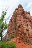 Montanha em Zion Park Fotos de Stock Royalty Free