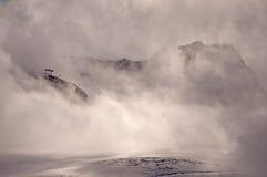 Montanha enevoada Fotografia de Stock Royalty Free
