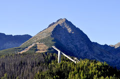 Montanha. Esqui regional. Foto de Stock Royalty Free