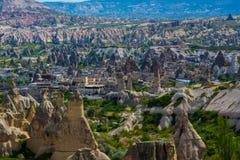 Montanha estranha de Cappadocia Turquia foto de stock