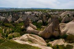 Montanha estranha de Cappadocia Turquia fotos de stock