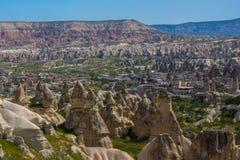 Montanha estranha de Cappadocia Turquia imagem de stock