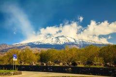 Montanha Etna na mola Imagem de Stock Royalty Free