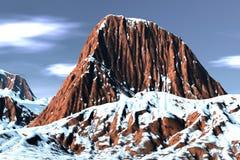 Montanha fantástica da neve Ilustração Stock