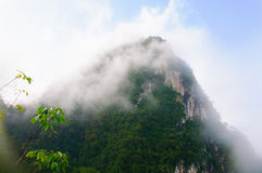 Montanha na névoa Foto de Stock Royalty Free