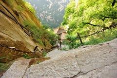 montanha huashan Imagens de Stock