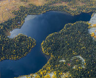 Montanha Lake Ural Subpolar, setembro Foto de Stock Royalty Free
