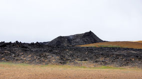 Montanha Leirhnjúkur do preto de Krafla imagens de stock
