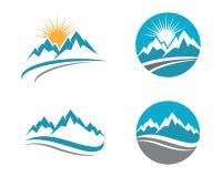 Montanha Logo Template Imagens de Stock
