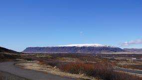 Montanha longa Islândia da tabela fotos de stock royalty free