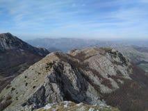 Montanha Lovcen em Montenegro imagens de stock