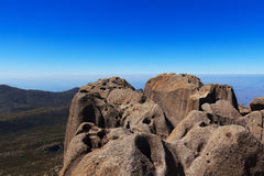 Montanha máxima de Agulhas Negras (agulhas pretas), Brasil Imagem de Stock