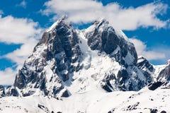 Montanha máxima dobro Ushba Foto de Stock Royalty Free