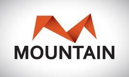 Montanha - M - logotipo Foto de Stock