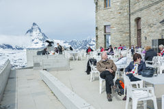 Montanha Matterhorn, Zermatt, Suíça Imagens de Stock