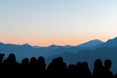 montanha na manhã fotografia de stock royalty free