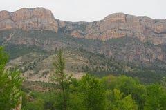 Montanha na serra del montseny fotografia de stock