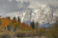 Montanha nevado Vista Fotos de Stock Royalty Free