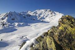 Montanha no inverno Fotografia de Stock