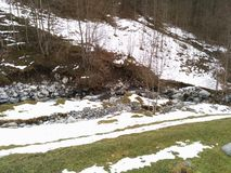 Montanha no inverno Imagem de Stock