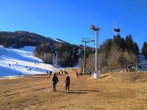 Montanha no inverno, Sarajevo de Bjelasnica foto de stock royalty free