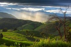 A montanha no MAI de Chaing, Tailândia Fotos de Stock Royalty Free