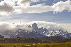 Montanha no Patagonia, Argentina de Cerro Fitz Roy Fotografia de Stock