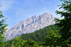 Montanha nos alpes austríacos Fotos de Stock Royalty Free