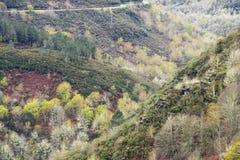 Montanha O Courel Espanha em Lugo, Galiza Imagem de Stock