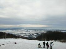 Montanha Omanovac do inverno imagens de stock