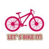 A montanha ostenta a bicicleta para o livramento extremo Imagem de Stock