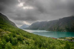 Montanha que caminha em Noruega Fotografia de Stock Royalty Free