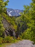 Montanha que caminha em Vall de Sorteny Andorra fotos de stock royalty free