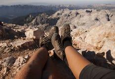 A montanha relaxa Imagens de Stock
