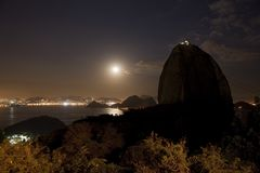 Montanha Rio de Janeiro Brasil de Sugarloaf Fotos de Stock Royalty Free