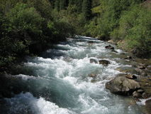 Montanha, rio Turgen Fotografia de Stock