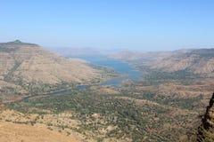 Montanha River Valley Fotografia de Stock