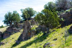 Montanha Rocky Hillside imagem de stock