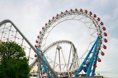 Montanha russa de Tokyo Dome, curso de Japão imagens de stock