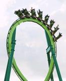 Montanha russa no parque de diversões Fotos de Stock Royalty Free
