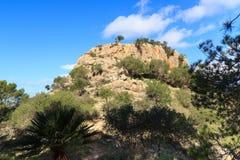 Montanha Sa Bruta de Majorca perto de Peguera Fotografia de Stock Royalty Free