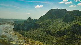 Montanha Sam Roi Yot, Tailândia Fotos de Stock
